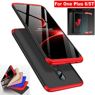 360° Full Cover Acrylic Bumper Case+Tempered Glass Film for One Plus 6/5T Shell
