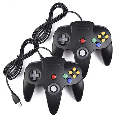 1x/ 2x USB NIntendo 64 N64 Controller Gamepad for PC Mac Raspberry Pi 3 Retropie