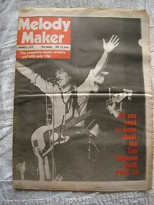 Melody Maker Magazine January 7th 1978 07/01/78