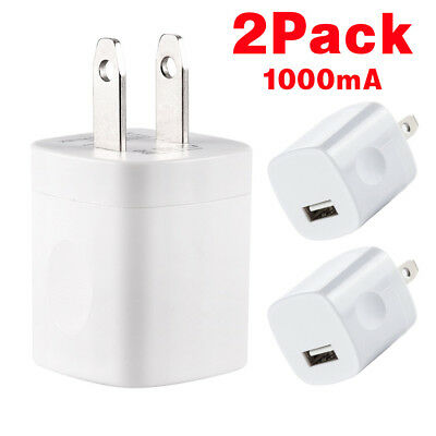 2* USB Wall Charger Power Adapter AC Home US Plug FOR iPhone 6 7 8 X Samsung LG