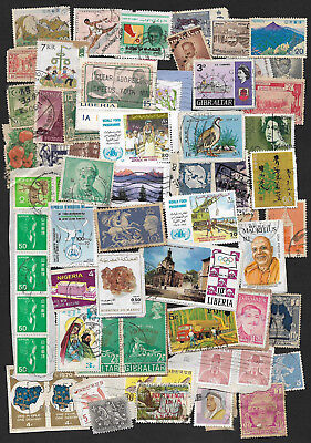 (111cents) World Wide Collection of used Stamps x 45+
