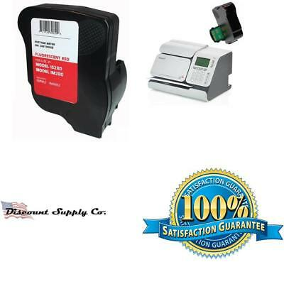 Neopost Isink2 Fluorescent Red Ink Cartridge For Neopost Is280 And Hasler Im280
