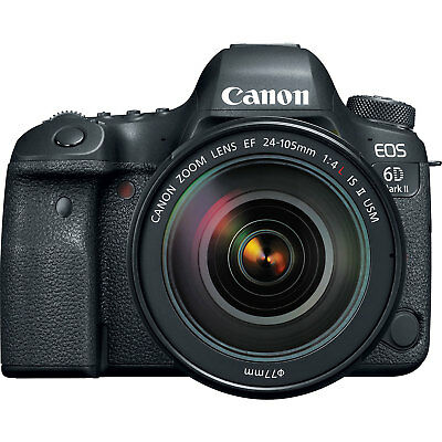 Canon EOS 6D Mark II Digital SLR Camera with 24-105mm f/4.0L Lens