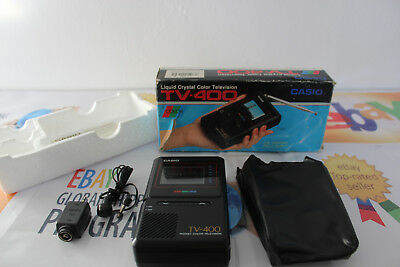 Vintage CASIO TV-400 LCD Color Handheld Portable Television in Box