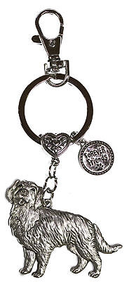 Dog Lovers Forever Friends Zinc Key Chain w/ Clip -Golden Retriever