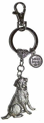 Dog Lovers Forever Friends Zinc Key Chain w/ Clip -Labrador Retriever