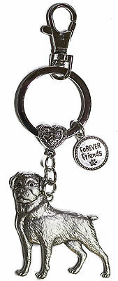 Dog Lovers Forever Friends Zinc Key Chain w/ Clip -Rottweiler