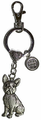 Dog Lovers Forever Friends Zinc Key Chain w/ Clip -French Bulldog