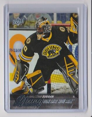 15-16 2015-16 Upper Deck #211 Malcolm Subban Young Guns Rookie Boston Bruins