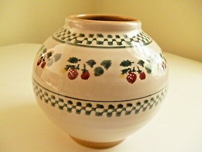 NICHOLAS MOSSE Retired STRAWBERRY Pattern POT ~ Excellent Pristine Condition