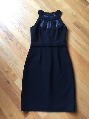 Elie Tahari Sleeveless cutout neckline black cocktail dress sz 2, worn once
