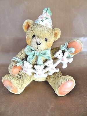 """Cherished Teddies Numbered 1992 """"Unfolding Happy Wishes For You"""" Bear w/Cutouts"""