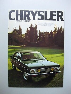 Simca Chrysler 2 Litres 160 180 Depliant brochure Prospekt Dutch text 1975 12pgs