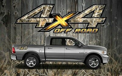 2 4x4 Off Road Truck Camouflage Camo Truck Bed Decals Stickers-ORT