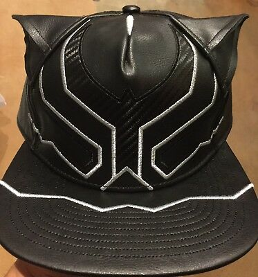 92a3b0e9fbd Marvel Comics BLACK PANTHER Suit Up Leather SnapBack Hat. NWT. One Size  Fits All