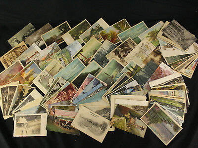 Lot 100 1900-1980s Hungary Postcards Landscapes Scenery Trees Mountains Gardens
