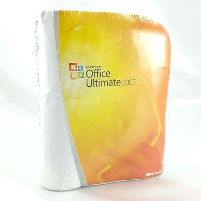 Microsoft Office Ultimate 2007 Promotional TSHIRT ~ New Sealed ~ NO SOFTWARE