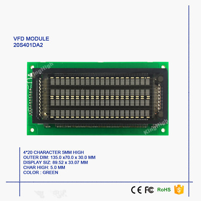 New 20x4 Dot Matrix Characters VFD Display Module Compatible with M204SD01AA