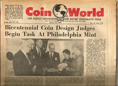 Coin World Newspaper January 23, 1974 - 104 Pages