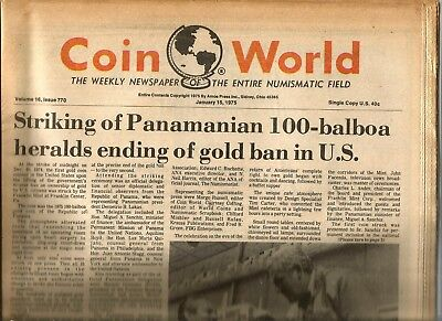 Coin World Newspaper January 15, 1975 - 128 Pages