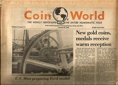 Coin World Newspaper January 22, 1975 - 120 Pages