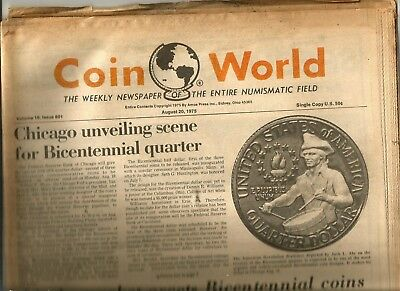 Coin World Newspaper August 20, 1975 - 88 Pages