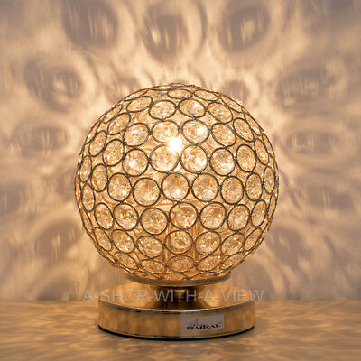 Crystal Ball Table Lamp Decorative Nightstand Night Light Desk Lamp Bedroom