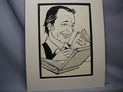 Gene Kelly Caricature Drawing from Studio 54 New York Famous Faces artist
