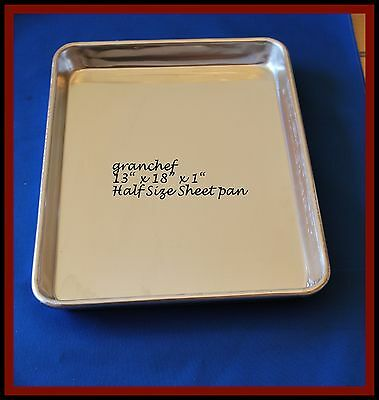 "Sheet pan ~ Half Size ~ 18 x 13 x 1"" HD  Aluminum ~ Commercial Grade - New"