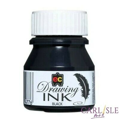 Educational Colours Drawing Ink Black 30ml By One Or Bulk Buy 6 Pack.