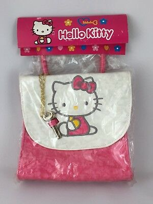 Hello Kitty Mini Bag Case Pouch Pink with Key Charm Sanrio Japan Import