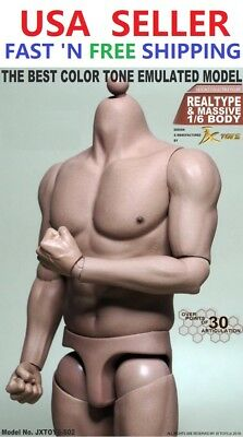1/6 Scale Male Muscular Figure body for Worldbox Hot Toys TTM20 Ganghood 1.0