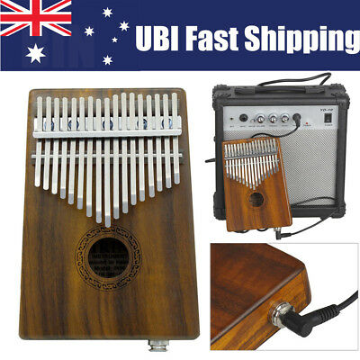 AU 17 Keys Electric EQ Finger Kalimba Thumb Piano African Percussion Instruments