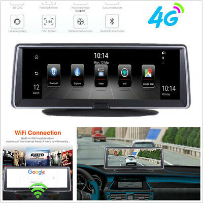 """7.84"""" HD Full Touch IPS 4G ADAS Android 5.1 GPS Autos DVR Wifi BT Video Recorder"""