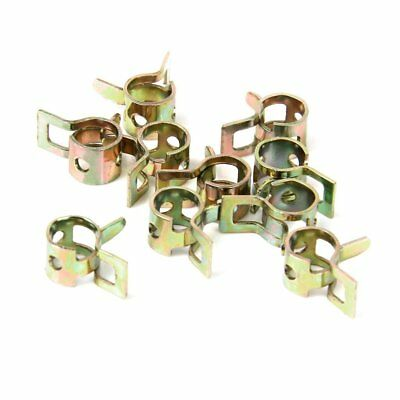 10 x 6mm Spring Clip Fuel Hose Line Water Pipe Air Tube Clamps Fastener