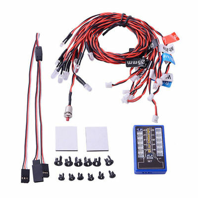 GT Power 12 LED Flashing Head Light Lamp System Kit For RC 1:10 Scale Car Truck