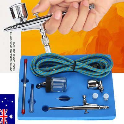 Air Brush Dual Action Spray Gun Airbrush Kit 0.2mm/0.3mm/0.5mm Needle Art Set