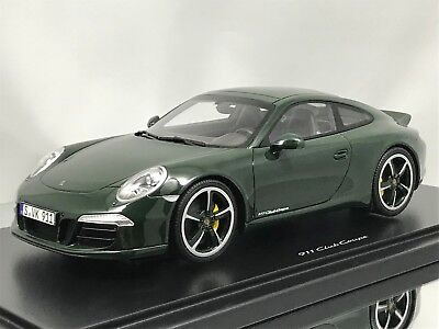GT Spirit Porsche 911 (991) Carrera S Club Coupe 2014 Green with Showcase 1:18