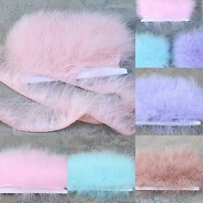 NEW Turkey Marabou 5-6cm feather Trim Fringing Price per 30cm DIY Craft Clothing