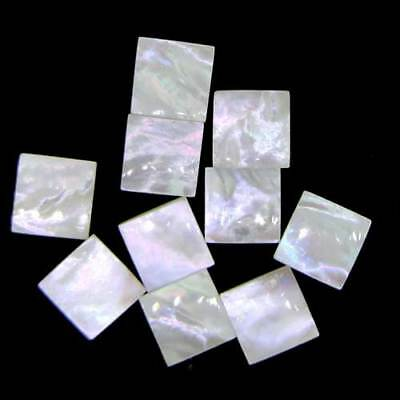Natural Mother Of Pearl Cabochon Square Loose Gemstone Jewelry Making 5 Pc 11393