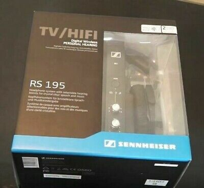 *Sealed* SENNHEISER RS-165 Digital RF Wireless Headphone System for TV & Stereo