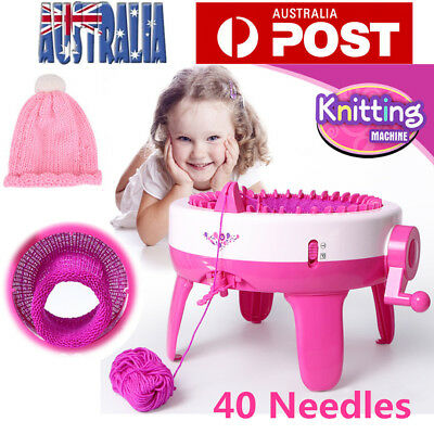 40 Needles Children Knitting Machine diy Handmade Scarves Knit Scarf Machine AU