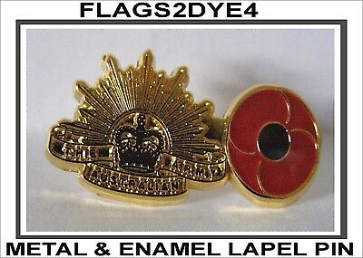Australian ARMY Lapel pin poppy badge INCLUDES AUSTRALIA POST TRACKING