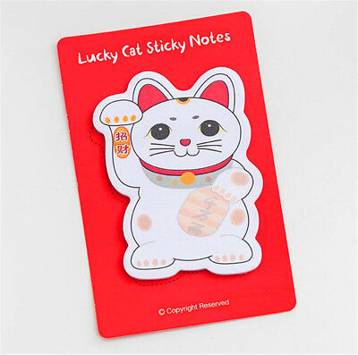 X1 Office Stationery Lucky Fortune Cats Convenient N Stickers Sticky Notes