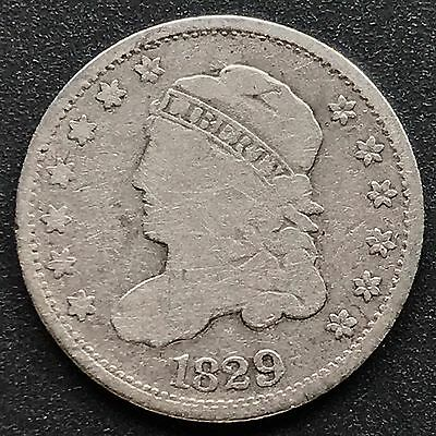 1829 Capped Bust Half Dime 5c nice coin #6201