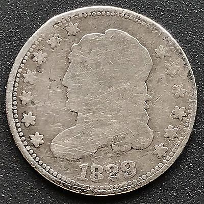 1829 Capped Bust Half Dime 5c nice coin #6200