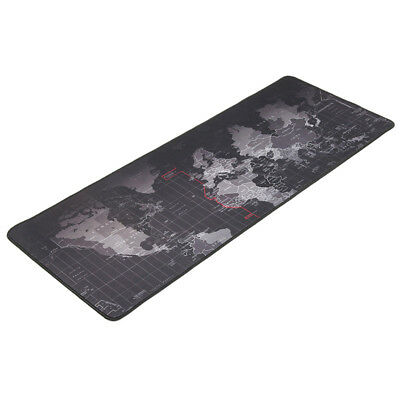 Black Non-Slip Gaming Old World Map Large Mouse Keyboard Pad Mat for PC Laptop