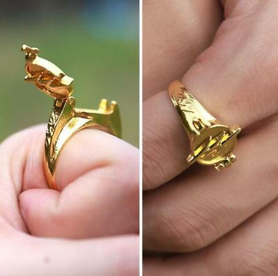 US! DC Comics The Flash Fastest Man Alive Raised Bolt Ring Cosplay Prop Gifts