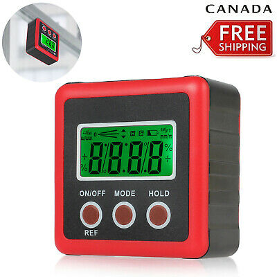 Digital Box Gauge Angle Protractor Level Inclinometer Magnetic Base CA NEW