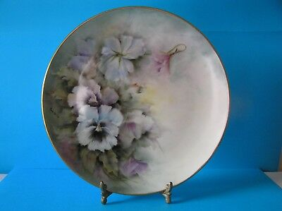 Frostenberg Germany Hand Painted Pansies Decorative Display Plate
